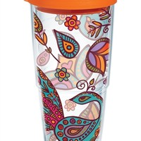 Molly Z - Peacock Flowers | 24oz Tumbler | Tervis®