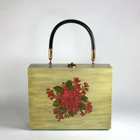 1960's Handcrafted Cigar Box Purse