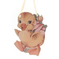 Easter EASTER DUCKLINGS HANG-UP Wood Wall Decor Spring 34801