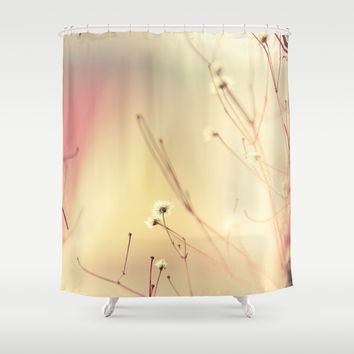 Burning flowers Shower Curtain by HappyMelvin