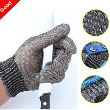 New Safety Cut Proof Stab Resistant Work Gloves Stainless Steel Wire Safety Gloves Cut Metal Mesh Butcher Anti-cutting Glove