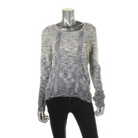 INC Womens Cable Knit Marled Pullover Sweater
