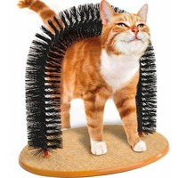 Cat Toys Arch Grooming Brush Self Groomer With Round Fleece Base