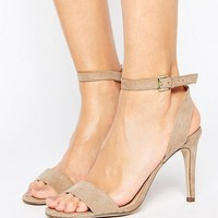 New Look Suedette Barely There Heeled Sandal at asos.com