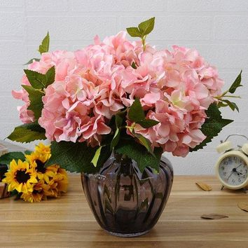 A Bouquet of Home Decor Artificial Hydrangea Flower