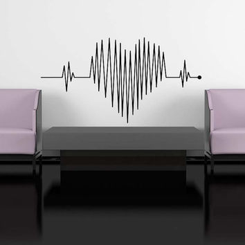 Heart Beat Monitor, Hospital- Decal, Sticker, Vinyl, Wall, Home, Bedroom, Dorm Decor
