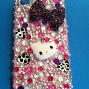 Bling Hello Kitty Iphone 4/4s case by PinkBungalowBoutique on Etsy