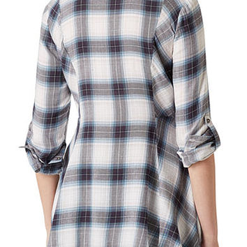 Vintage America Blues Ries Swing Plaid Top