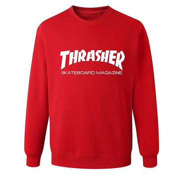Thrasher Hip hop Sweatshirt Red