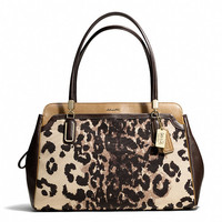 madison kimberly carryall in ocelot print fabric