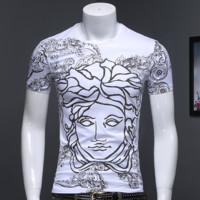 Medusa summer new men's short sleeved T-shirt round neck small shirt men's T-shirt