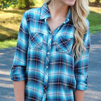 Fun Little Plaid Flannel - Blue