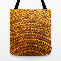 Golden Fan Tote Bag by Lyle Hatch