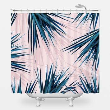 Pointy Palm Shower Curtain