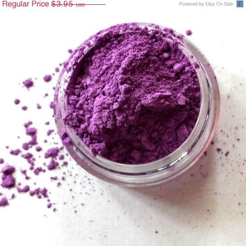 """ON SALE Purple Shimmer Eye Shadow - """"Pansy"""" - Mineral Makeup - Eyeshadow"""