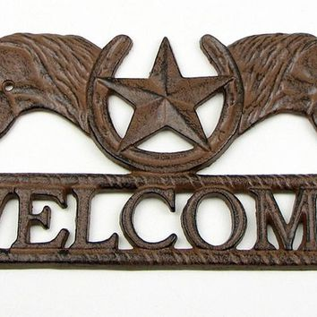 Horse Star Welcome Cast Iron