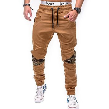 Men's Street Style Slim Fit Jogger Sweatpants Cotton Tapered Harem Pants