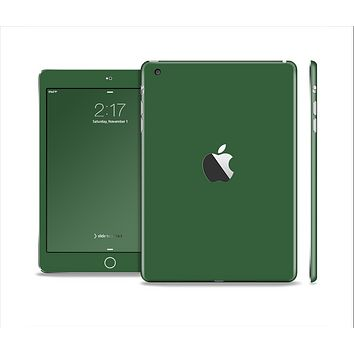 The Solid Hunter Green Skin Set for the Apple iPad Mini 4