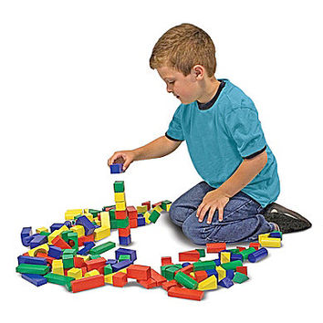 Melissa & Doug 100-Piece Painted Wooden Blocks Set