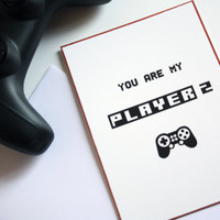 Valentine Card You are My Player 2