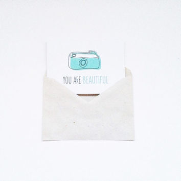 You Are Beautiful Card - Funny Anniversary Card - Beautiful Cards for Girlfriend - Card for Boyfriend