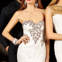 Alyce Paris 4376 - Diamond White Strapless Beaded Prom Dresses Online