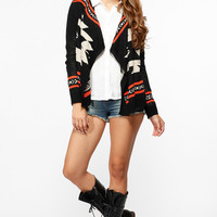 Cultural Inspired Long Sleeve Cardigan