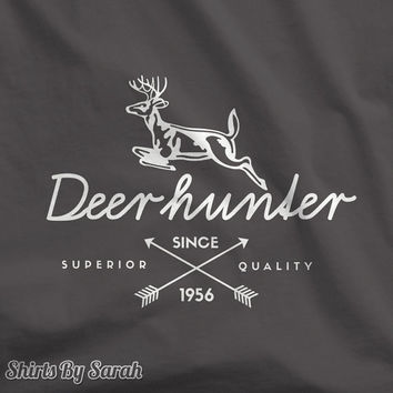Personalized Hunting T-Shirt - Deer Hunter T Shirts - Vintage Style Tees Custom Men's Women's Hunt