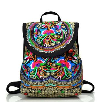 Embroidered Hippie Backpack
