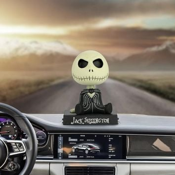 Car Ornaments PVC Jack Skeleton Action Figure Shaking Head Doll Dashboard