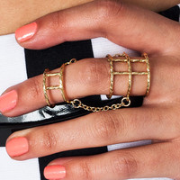 chain-linked-cage-ring GOLD - GoJane.com