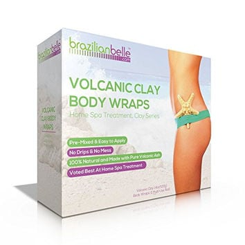 Volcanic Clay Body Wraps - It Works for: Weight Loss, Body Detox, Slimming, Toning, Firming. 100 % Natural Home Spa Treatment Kit that is Perfect for Stomach, Arms, Thighs & More
