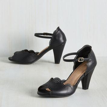 When Life Gives You Lessons Heel in Black | Mod Retro Vintage Heels | ModCloth.com