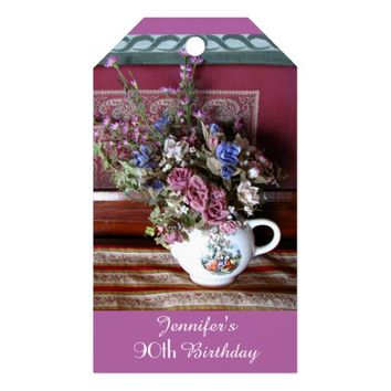 Vintage Teapot Thank You Gift Tags, 2 Sided Gift Tags