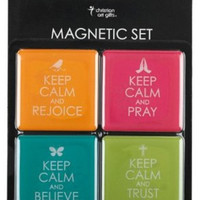 "Inspirational Fridge Magnet Set (4) - ""Keep Calm"""