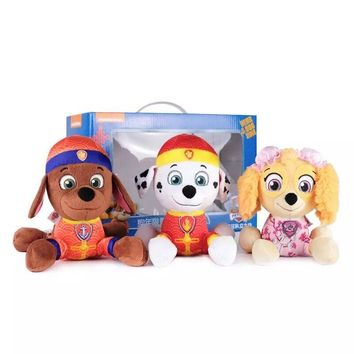Genuine Paw Patrol 3pcs juguetes Toys patrulla canina toys Puppy Patrol Dog plush Toy Doll kids stuffed toy gift Tang Style