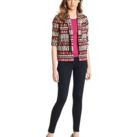 Democracy Women's Soft Print Blazer With Scallop Details