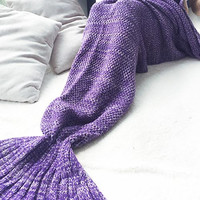 Cupshe Mermaid Party Dreaming Purple Blanket