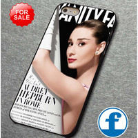 Vanity Fair Inspired Audrey Hepburn  for iphone, ipod, samsung galaxy, HTC and Nexus PHONE CASE