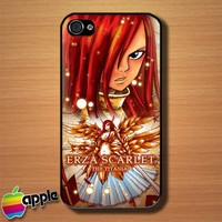 Erza fairy Tail Custom iPhone 4 or 4S Case Cover