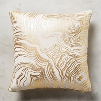 Gleaming Rings Pillow