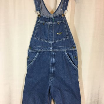 Bib Overalls Cotton Jean Shorts by Real Work Wear, Bib Overall Jeans, Carpenter Jean Bibs, Punk, Grunge Adult Size Small to Medium