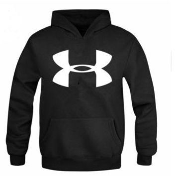 ONETOW Under Armour Men 's casual printing sweater large size Slim jacket hooded head movement men' s clothing