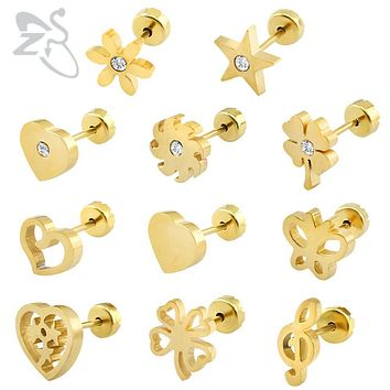 Small Cute High Quality Steel Earrings