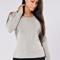 Calvin Top - Heather Grey