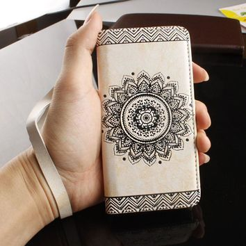 For Samsung Galaxy S8 Plus Mandala Flower Pattern Leather Flip Wallet Case Cover