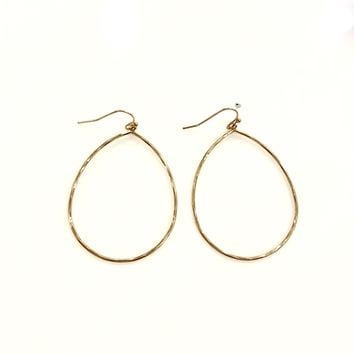 Bella Hoop Large Oval Earrings