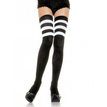 Sporty Ribbed Thigh Highs - #Sporty