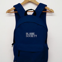 Blame society back pack