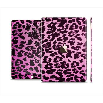 The Hot Pink Vector Leopard Print Skin Set for the Apple iPad Air 2